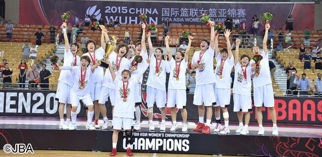 女子バスケ日本代表、隼JAPAN!アジア大会優勝\(^o^)/