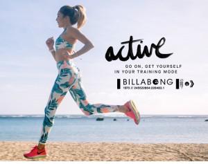 美意識高めな女性必見!この夏ビラボンが提案するビーチアクティブウエアーが売れています。