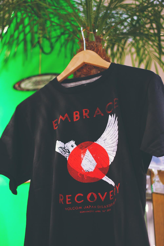 VOLCOM 熊本地震復興支援Tシャツの販売を始めました。