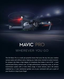 遂に時代は空撮へ☆新型ドローンDJI MAVICの発表です☆