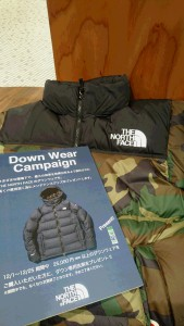 ノースフェイスDown wear Campaign!!