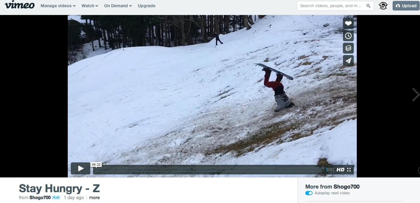 """スキー場の雪の量や質に文句言う前にCheck!""""STAY HUNGRY""""「STAY HUNGRY-Z」公開!"""