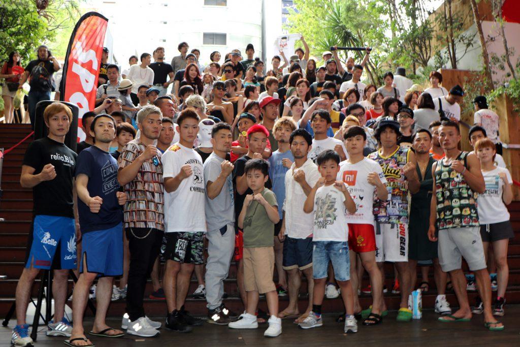 スポタカ前にて「6.25 プロフェッショナル修斗inOSAKA」前日公開計量開催しました!