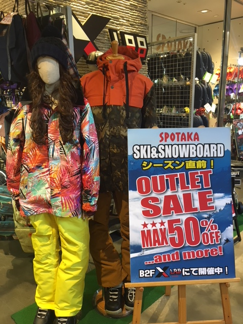 SKI&SNOWBOARDシーズン直前OUTLET SALE✩MAX50%OFF!!