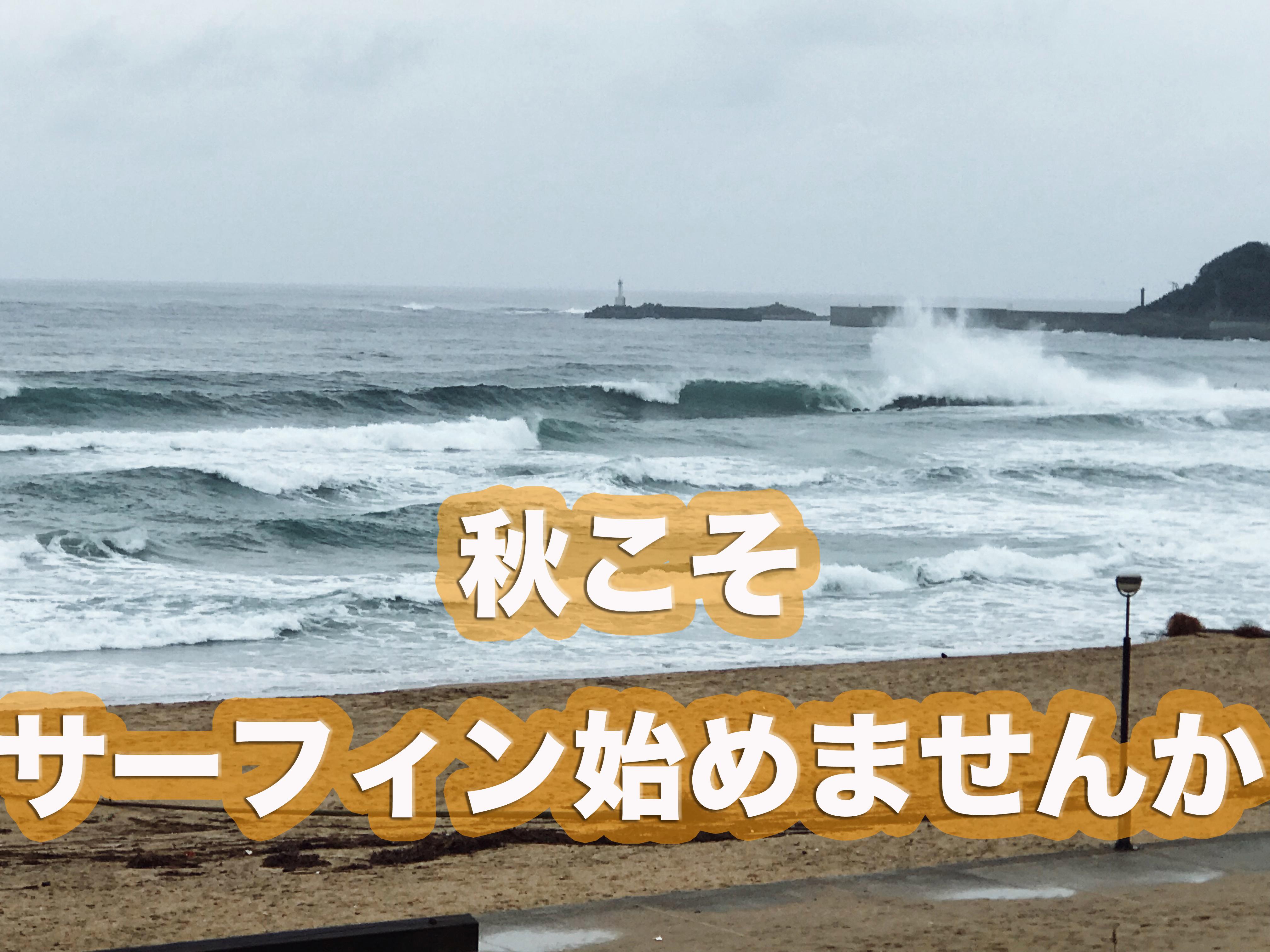これからが一番楽しいサーフィンのシーズン。