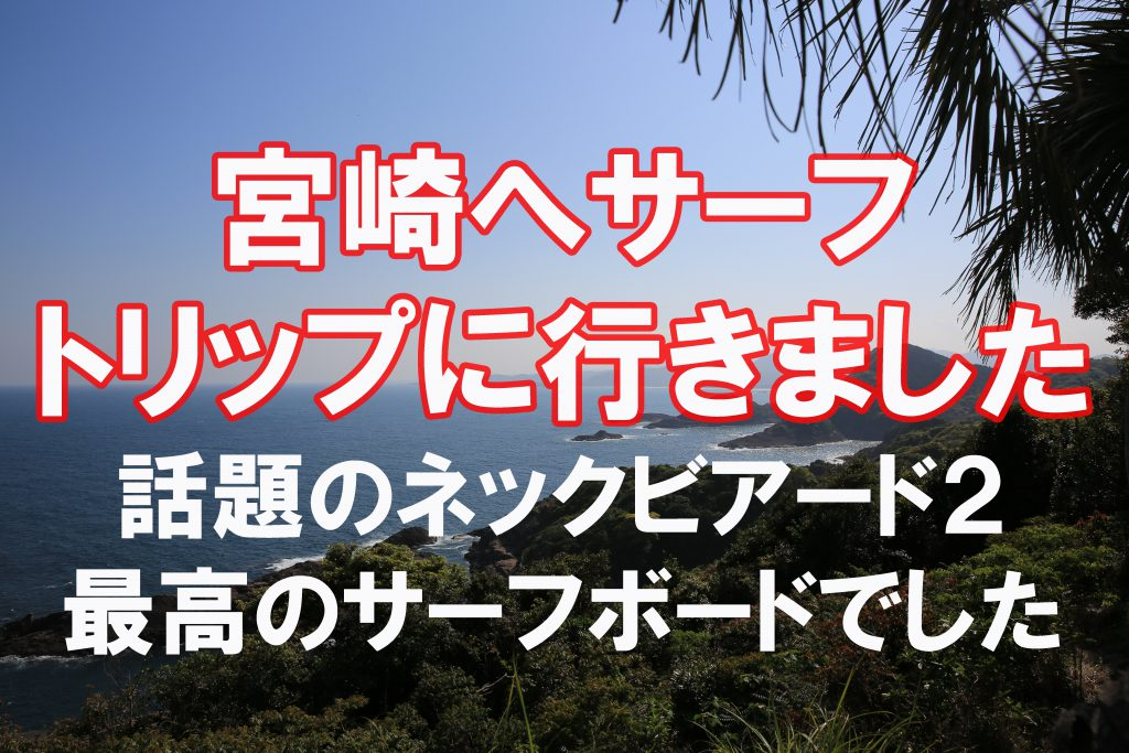 """3泊4日 43歳おっさん宮崎サーフィン1人旅 """"話題のチャネルアイランド ネックビアード2レビュー"""""""